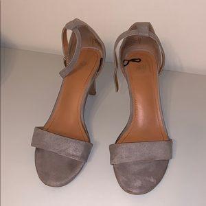 H&M Suede Open Toe Sandal Heels